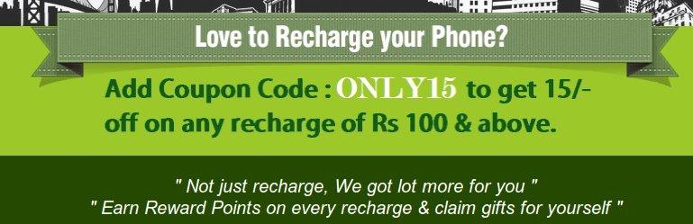 Get discount on online mobile recharge. Discount code for rechargefreak.com