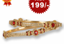 Stone bangle for Rs 199 only(Mrp Rs 699)