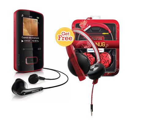 Philips Go-Gear Vibe 4Gb Mp4 Player With Philips Oneil Headset free ki shopping