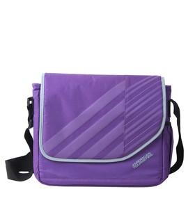 buy American Tourister Messenger Laptop Bag purple Color