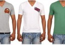 Buy V- Neck tshirts at Rs.399(set of 3)