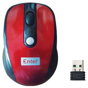 Enter Wireless Optical Mouse EW50B cherry color