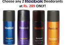 Reebok Deo Combo – Set of 2 Deodorants @ Rs 289 on tradus.com !