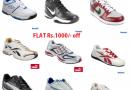 Flat Rs1000/- off on Reebok, Nike, Puma shoes