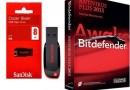 Sandisk 8GB Cruzer Blade Pendrive + Bitdefender Antivirus Plus 2013 @ Rs 490/-