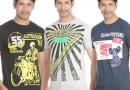 McKinley Printed T-Shirts for Men – Pack of 3 (Black,Grey and Blue) @ 699/-
