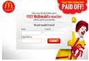Free McDonald vouchers