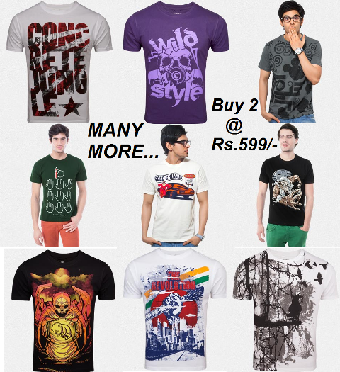 Graphic tees at just Rs.599/-