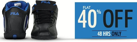 Get FLAT 40% OFF on FILA Shoes