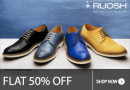 Get FLAT 50% OFF on Ruosh Shoes