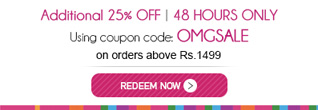 Get Additional 25% OFF on Shopping above Rs. 1499