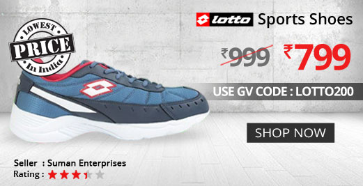 Buy LOTTO TRAUNT BLUE RUNNING SHOE @ Rs. 799