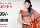 Get Printed Supernet Sarees FLAT @ Rs. 299