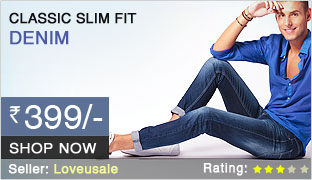 Buy Classic Fit Denim Jeans @ Rs. 399