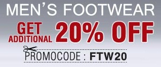 Get FLAT 20% OFF on Branded Footwear