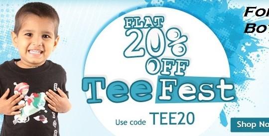 Get FLAT 20% OFF on Tee Fest