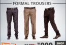Buy 3 Formal Trousers at Rs.999/-