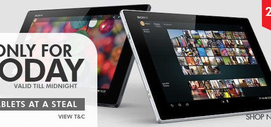 FLAT 20% OFF on wide range of tablets
