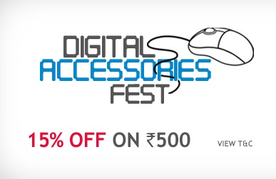 Get FLAT 15% OFF on DIgital Accessories Rs. 500 & Above