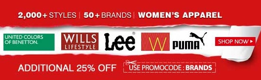 Additional 25% OFF on Women's Apparel