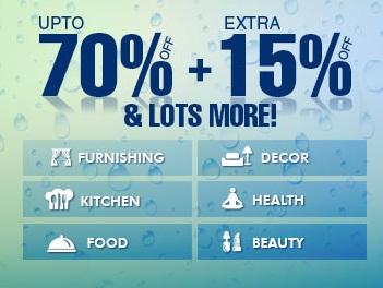Get Upto 70% OFF + Extra 15% OFF