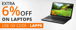 Get Extra 6% OFF on Laptops