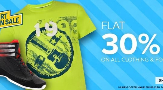 Get FLAT 30% OFF on all Clothing and Footwear