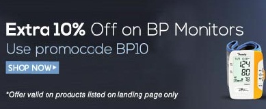 Extra 10% OFF on BP Monitors