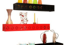 Buy Home Sparkle Black And Red Set of 3 Wall Shelves @ Rs. 599