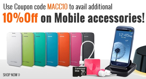 Get 10% OFF on Mobile Accessories