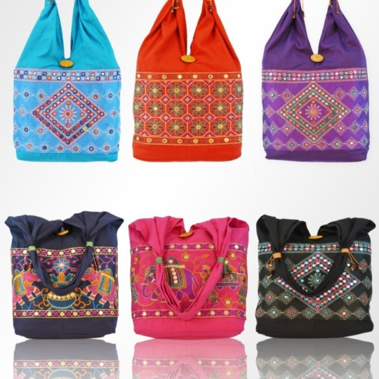 Buy Embroidered Ethnic Jhola Bag with 6 Color Options