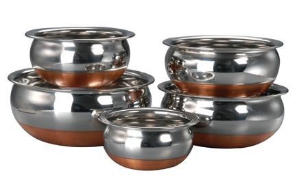 Buy Varun Copper Bottom Prabhu Chetty - 5 Pcs Set @ Rs. 418