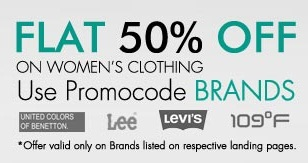Get FLAT 50% OFF on Women's Clothing