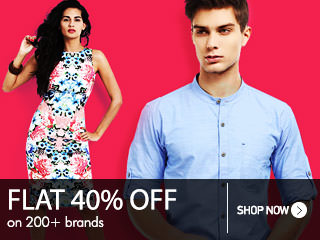 Get FLAT 40% OFF on various brands