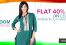 Get FLAT 40% OFF on Women's Clothing Brands