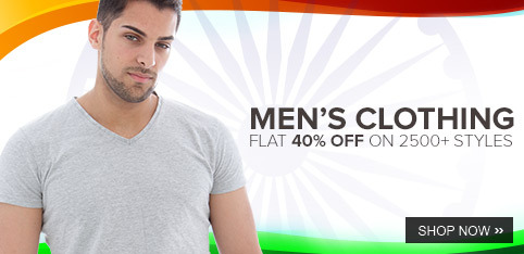 Get FLAT 40% OFF on Men's Clothing