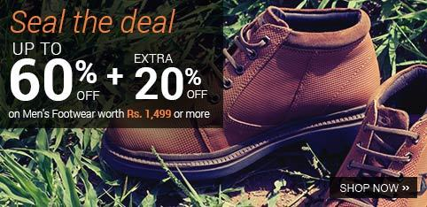 Get FLAT Discount on Men's Footwear