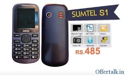 Buy Sumtel Dual Sim Mobile @ Rs. 585