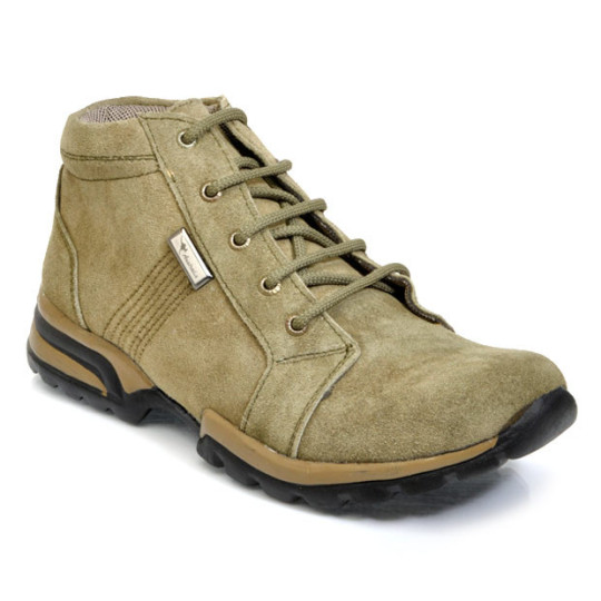 Buy Bacca Bucci Olive Green Ankle Length Boots @ Rs. 449