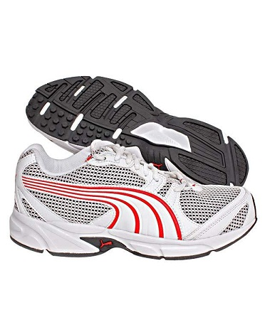 Buy Puma Aquil 2 Running Shoe (White & Red) @ Rs. 1069/-
