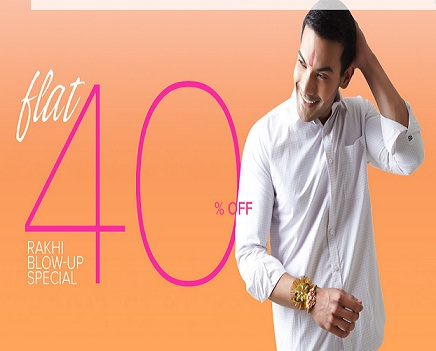 Get FLAT 40% OFF on Apparels (Rakhee Special)