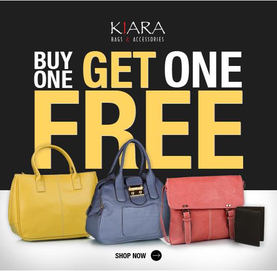 Buy One Get One FREE on Kiara (Bags & Accessories)