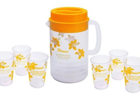 Buy Priya Floral Glass and Jug Set - 7 Pcs @ Rs. 149