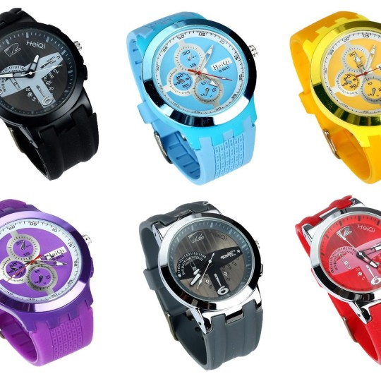 Buy HeiQi Vibrant Chrono Look Analog Watch - 6 Color Options @ Rs. 275