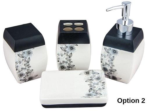 Buy Designer Bathroom Set of 4 - 2 Options @ Rs. 454/-