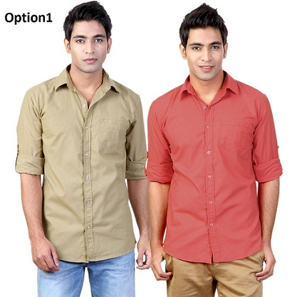 Buy Flip Curve Shirts for Men Pack of 2 @ Rs. 599