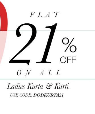 Get FLAT 21% OFF on Ladies Kurta and Kurti