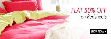 Get FLAT 50% OFF on BEDSHEETS
