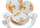 Buy Birde Floral Melamine 24 Pc Dinner Set – ORANGE @ Rs. 399