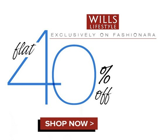 Get Flat 40% OFF on Wills Lifestyle